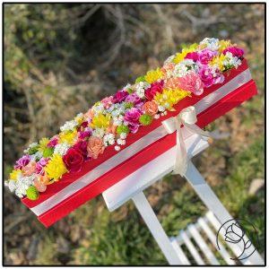 باکس گل های ترکیبی و رنگارنگ