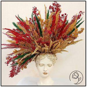 تندیس سر با گل خشک